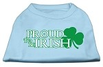 Proud to be Irish Screen Print Shirt Baby Blue XL